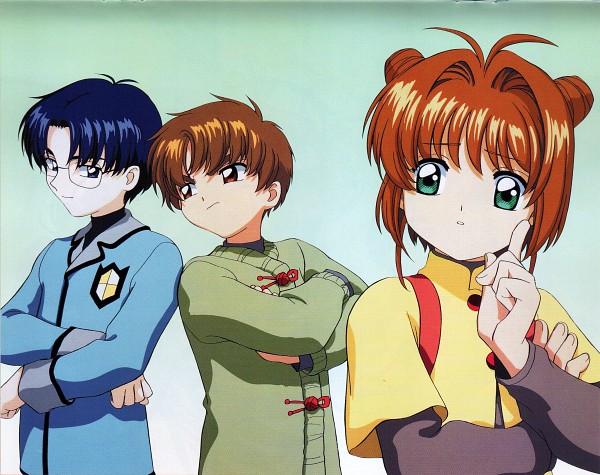 Tags: Anime, Cardcaptor Sakura, Cheerio! 3, Hiiragizawa Eriol, Kinomoto Sakura, Li Syaoran, Scan, Official Art
