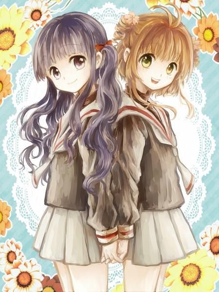 Tags: Anime, Pixiv Id 9390584, Cardcaptor Sakura, Daidouji Tomoyo, Kinomoto Sakura, Gray Skirt, Fanart, Fanart From Pixiv, Pixiv