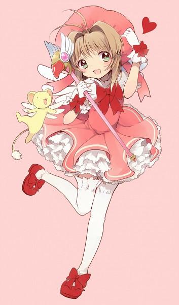 Tags: Anime, Gum (Vivid Garden), Cardcaptor Sakura, Kero-chan, Kinomoto Sakura, Sealing Wand (Dormant Form), Mobile Wallpaper, Pixiv, Fanart From Pixiv, Fanart
