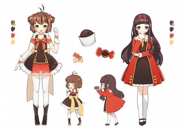 Tags: Anime, Pixiv Id 2643800, Cardcaptor Sakura, Daidouji Tomoyo, Kinomoto Sakura, Bonbon, Semi Chibi, Fanart From Pixiv, Fanart, Pixiv, Character Sheet