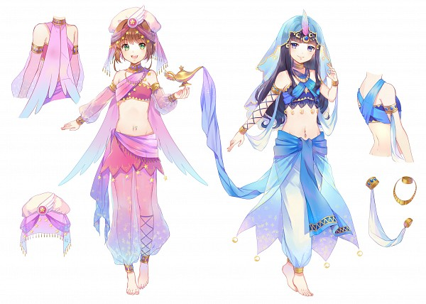 Tags: Anime, Ekita_Kuro, Cardcaptor Sakura, Kinomoto Sakura, Daidouji Tomoyo, Navel Piercing, Fanart From Pixiv, Fanart, Pixiv