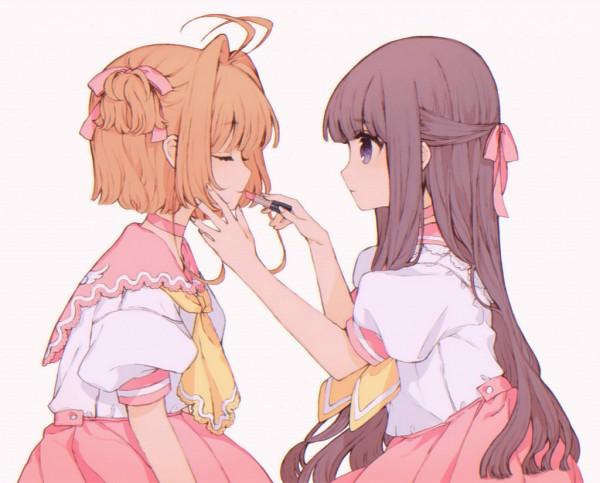 Tags: Anime, TKN (Pixiv5660890), Cardcaptor Sakura, Daidouji Tomoyo, Kinomoto Sakura, Lipstick Tube, Pixiv, Fanart, Fanart From Pixiv