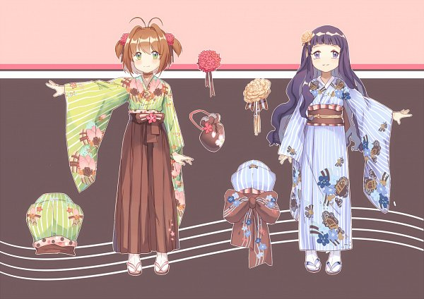 Tags: Anime, Pixiv Id 3512827, Cardcaptor Sakura, Daidouji Tomoyo, Kinomoto Sakura, Fanart, Fanart From Pixiv, Pixiv