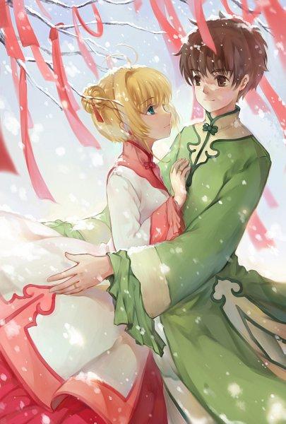 Tags: Anime, Duximeng, Cardcaptor Sakura, Kinomoto Sakura, Li Syaoran, Wedding Ring, Pixiv, Mobile Wallpaper, Fanart From Pixiv, Fanart