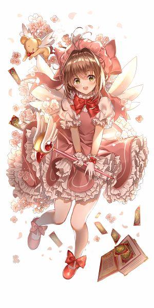 Tags: Anime, Pixiv Id 4399718, Cardcaptor Sakura, Kinomoto Sakura, Kero-chan, Mob, Clow Cards, Sealing Wand (Dormant Form), Clow Book, Fanart From Pixiv, Fanart, Pixiv