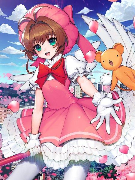 Tags: Anime, Pixiv Id 3713171, Cardcaptor Sakura, Kinomoto Sakura, Kero-chan, Wallpaper, Fanart From Pixiv, Fanart, Pixiv
