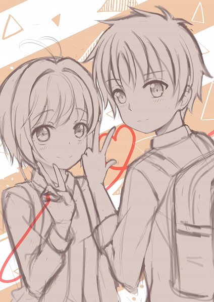 Tags: Anime, Pixiv Id 24403621, Cardcaptor Sakura, Kinomoto Sakura, Li Syaoran