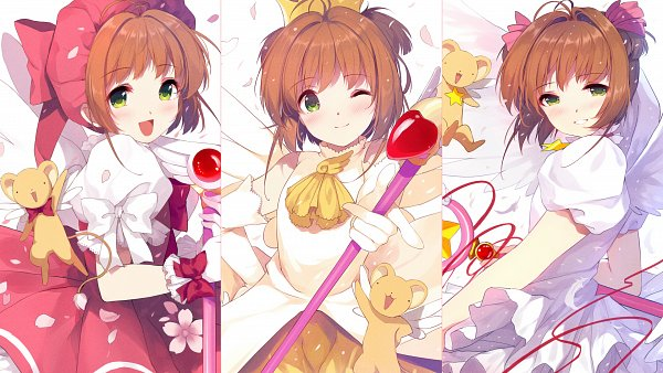 Tags: Anime, Caidychen, Cardcaptor Sakura, Kinomoto Sakura, Kero-chan, Star Wand, Sealing Wand (Star Form), Sealing Wand (Dormant Form), Pixiv, Fanart From Pixiv, Wallpaper, Fanart