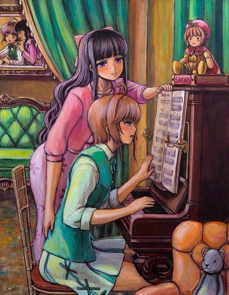 Tags: Anime, Takeuchi Tomoki, Cardcaptor Sakura, Daidouji Tomoyo, Kinomoto Sakura