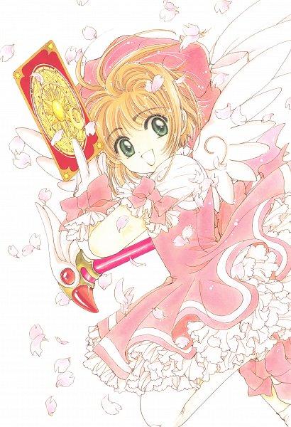 Tags: Anime, CLAMP, Cardcaptor Sakura, Cardcaptor Sakura Illustrations Collection 3, Kinomoto Sakura, Sealing Wand (Dormant Form), Clow Cards, Scan, Official Art, Mobile Wallpaper