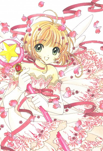 Tags: Anime, CLAMP, Cardcaptor Sakura, Cardcaptor Sakura Illustrations Collection 3, Kinomoto Sakura, Sealing Wand (Star Form), Star Wand, Official Art, Mobile Wallpaper, Scan