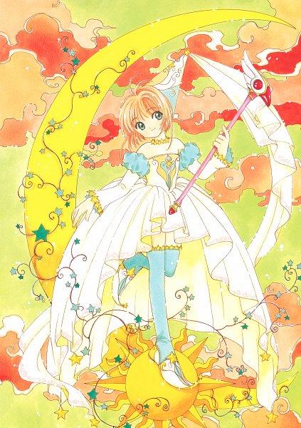 Tags: Anime, CLAMP, Cardcaptor Sakura, Cardcaptor Sakura Memorial Book, Kinomoto Sakura, Sealing Wand (Dormant Form), Official Art, Scan, Mobile Wallpaper