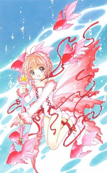 Tags: Anime, CLAMP, Cardcaptor Sakura, Cardcaptor Sakura Illustrations Collection 2, Kinomoto Sakura, Sealing Wand (Star Form), Star Wand, Official Art, Mobile Wallpaper, Scan