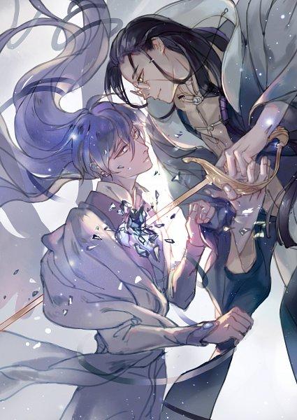 Tags: Anime, Pixiv Id 4056642, Cardcaptor Sakura, Yue (Cardcaptor Sakura), Clow Reed, Tsukishiro Yukito, Run Through, Pixiv, Fanart From Pixiv, Fanart