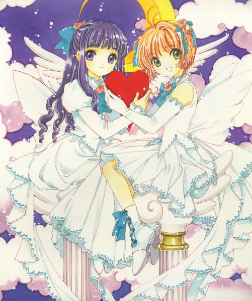 Tags: Anime, CLAMP, Cardcaptor Sakura, Cardcaptor Sakura Illustrations Collection 2, Daidouji Tomoyo, Kinomoto Sakura, Official Art