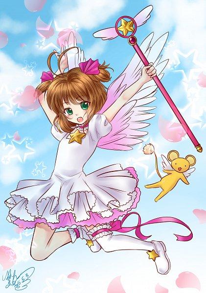 Tags: Anime, Pixiv Id 5465372, Cardcaptor Sakura, Kinomoto Sakura, Kero-chan, Star Wand, Sealing Wand (Star Form), Fanart From Pixiv, Fanart, Pixiv