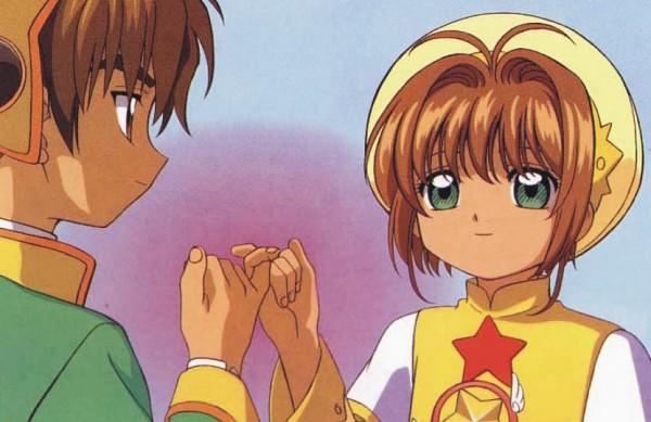 Tags: Anime, MADHOUSE, Cardcaptor Sakura, Kinomoto Sakura, Li Syaoran, Yellow Hat, Official Art