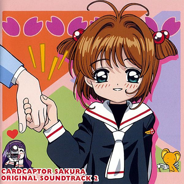 Tags: Anime, Cardcaptor Sakura, Daidouji Tomoyo, Kinomoto Sakura, Kero-chan, Video Camera, Official Art, CD (Source), Scan