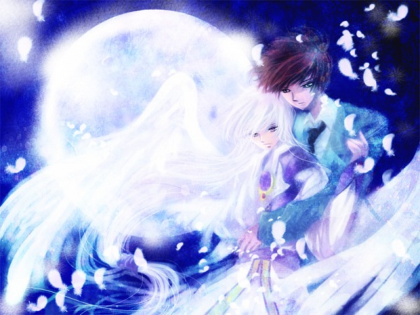 Tags: Anime, Yuraraxxx, Cardcaptor Sakura, Yue (Cardcaptor Sakura), Kinomoto Touya, Pixiv, Fanart