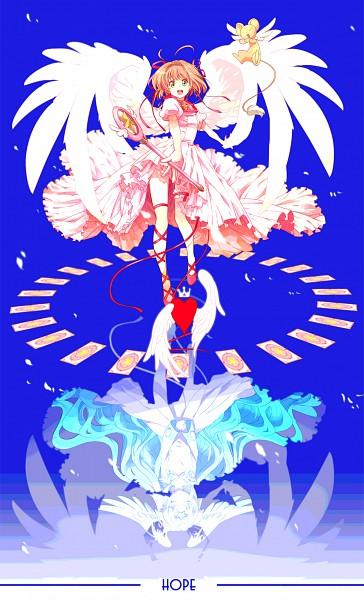 Tags: Anime, Chima Tsuitta, Cardcaptor Sakura, Kero-chan, Hope Card, Kinomoto Sakura, Sealing Wand (Star Form), Pixiv, Mobile Wallpaper, Fanart