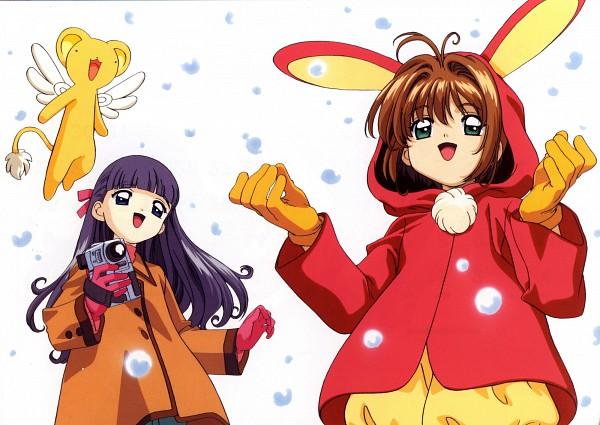 Tags: Anime, MADHOUSE, Cardcaptor Sakura, Kero-chan, Daidouji Tomoyo, Kinomoto Sakura, Official Art, Artist Request