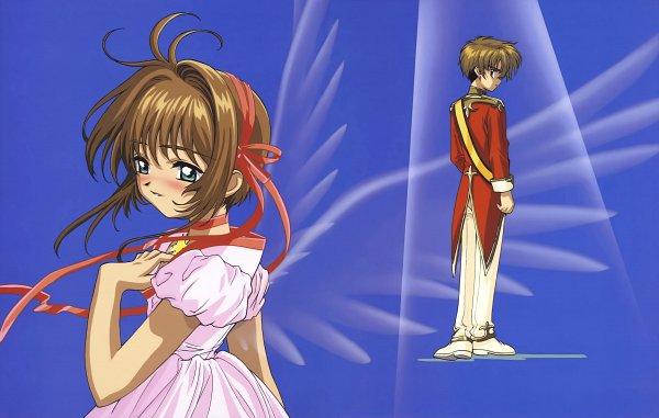 Tags: Anime, Cardcaptor Sakura, Cardcaptor Sakura Movie 2: Fuuin Sareta Card, Cheerio! 3, Li Syaoran, Kinomoto Sakura, Transparent Wings, Official Art