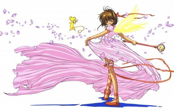Tags: Anime, MADHOUSE, Cardcaptor Sakura, Cardcaptor Sakura Movie 2: Fuuin Sareta Card, Cheerio! 3, Kinomoto Sakura, Kero-chan, Sealing Wand (Star Form), Star Wand, Mobile Wallpaper, Magazine (Source), Scan, Artist Request