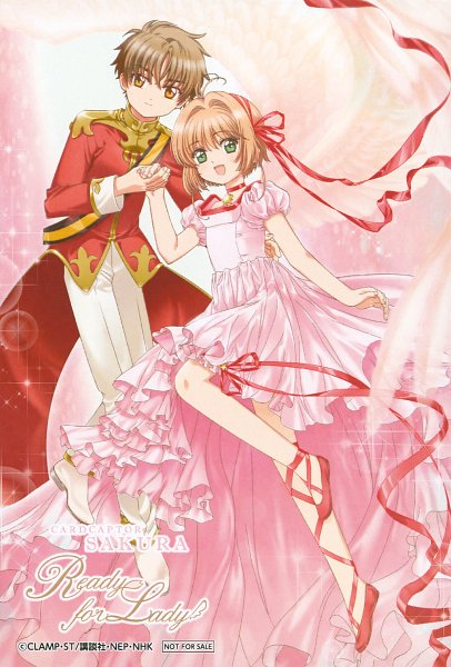 Tags: Anime, MADHOUSE, Cardcaptor Sakura, Cardcaptor Sakura Movie 2: Fuuin Sareta Card, Kinomoto Sakura, Li Syaoran, Official Art, Scan