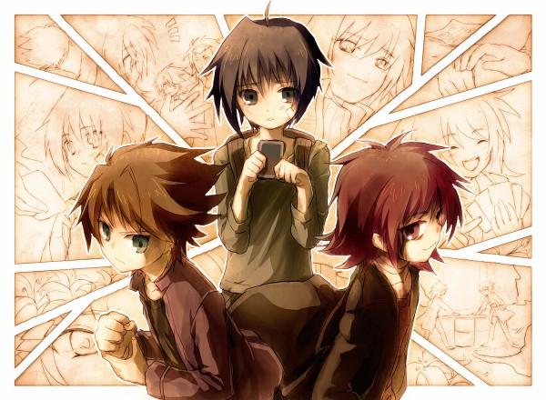 Tags: Anime, Kz Zkkkha, Cardfight!! Vanguard, Kai Toshiki, Sendou Aichi, Suzugamori Ren, Randoseru, Pixiv, Fanart
