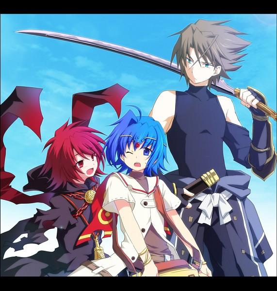 Tags: Anime, Soukuu Kizuna, Cardfight!! Vanguard, Suzugamori Ren, Kai Toshiki, Sendou Aichi, Ride (Cardfight!!), Pixiv, Fanart, Cosplay Request