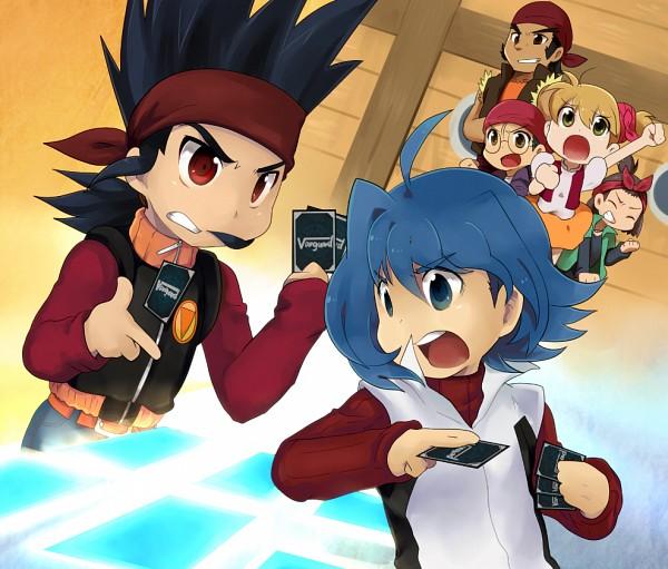 Tags: Anime, Raq, Asia Circuit Hen, Cardfight!! Vanguard, Katsuragi Kamui, Sendou Aichi, Saga Eiji, Uno Reiji, Daimonji Nagisa, Pixiv, Fanart