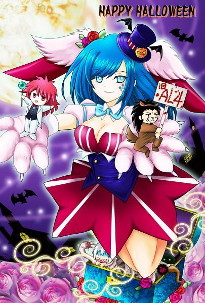 Tags: Anime, Pixiv Id 1857608, Cardfight!! Vanguard, Shinjou Tetsu, Suzugamori Ren, Yahagi Kyou, Narumi Asaka, Midnight Bunny (Cosplay), Ride (Cardfight!!), Pixiv, Fanart, Cosplay Request, Team FFAL4
