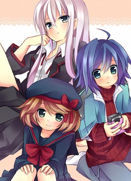Tags: Anime, Nikuma, Sendou Emi, Tokura Misaki, School Uniform (Miyaji Academy), Pixiv, Fanart