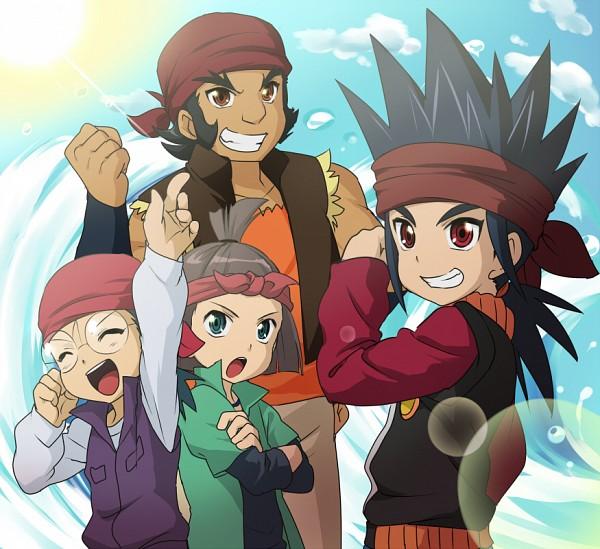 Tags: Anime, Huryusyou, Asia Circuit Hen, Cardfight!! Vanguard, Katsuragi Kamui, Saga Eiji, Uno Reiji, Daimonji Gouki, Pixiv, Fanart
