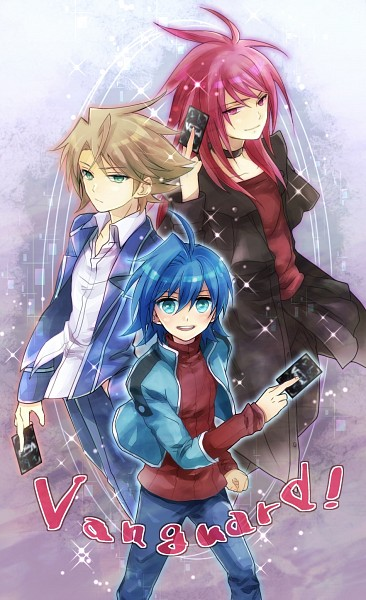 Tags: Anime, Pixiv Id 3623108, Cardfight!! Vanguard, Suzugamori Ren, Kai Toshiki, Sendou Aichi, School Uniform (Hitsue High), Pixiv, Fanart