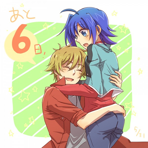 Tags: Anime, Tani (Pixiv 446857), Cardfight!! Vanguard, Mitsusada Kenji, Sendou Aichi, Pixiv, Fanart