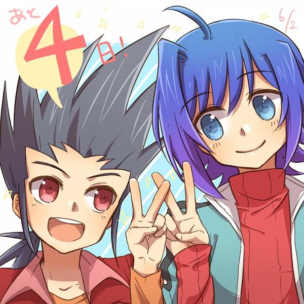 Tags: Anime, Tani (Pixiv 446857), Cardfight!! Vanguard, Sendou Aichi, Katsuragi Kamui, Pixiv, Fanart, Team Q4