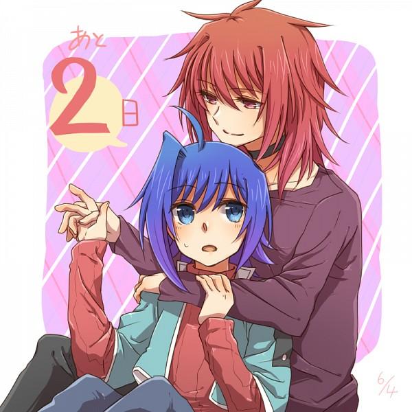 Tags: Anime, Tani (Pixiv 446857), Cardfight!! Vanguard, Suzugamori Ren, Sendou Aichi, Pixiv, Fanart