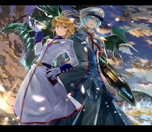 Tags: Anime, Asuka Moto, Asia Circuit Hen, Cardfight!! Vanguard, Blue Storm Dragon Maelstrom, Marine General Of Sea Roar Argos, Souryuu Leon, Pixiv, Fanart, Vanguard Race: Aquaroid, Vanguard Unit, Team Dreadnought, Aqua Force