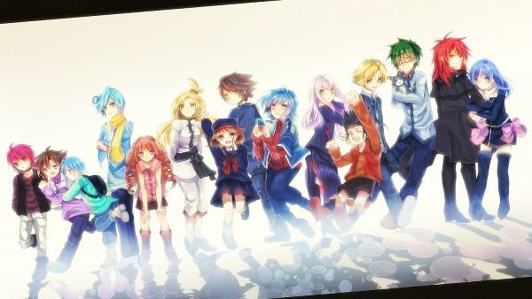 Tags: Anime, Pixiv Id 2814855, Cardfight!! Vanguard, Sendou Emi, Tatsunagi Rekka, Sendou Aichi, Narumi Asaka, Miwa Taishi, Nitta Shin, Tenchou Dairi, Tokura Misaki, Tatsunagi Kourin, Suzugamori Ren
