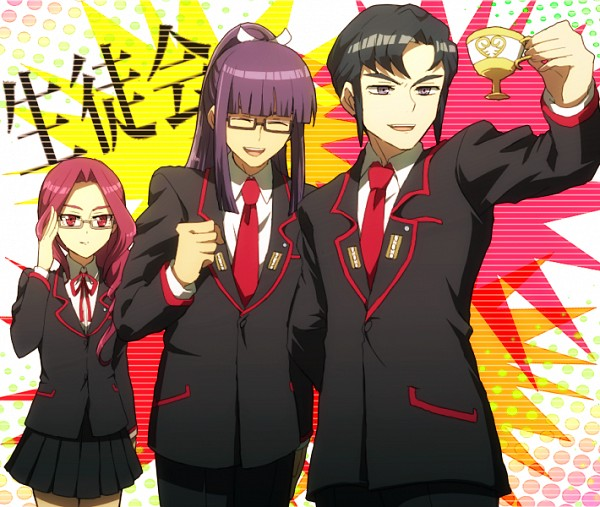 Tags: Anime, Akasata, Link Joker Hen, Cardfight!! Vanguard, Naitou Tatewaki, Suwabe Itsuki, Nagadai Maki, School President, School Uniform (Miyaji Academy), Pixiv, Fanart