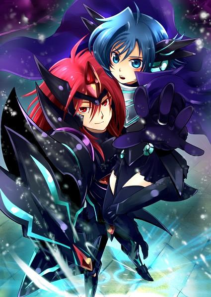 Tags: Anime, Pixiv Id 352054, Cardfight!! Vanguard, Suzugamori Ren, Sendou Aichi, Ride (Cardfight!!), Darkness Maiden Macha (Cosplay), Blaster Dark (Cosplay), Fanart, Pixiv