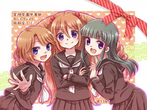 Tags: Anime, Tani (Pixiv 446857), Link Joker Hen, Cardfight!! Vanguard, Tobita Mai, Sendou Emi, Tatsunagi Rekka, Pixiv, Fanart