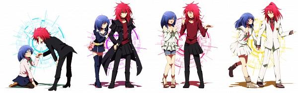 Tags: Anime, Akasata, Link Joker Hen, Asia Circuit Hen, Cardfight!! Vanguard, Suzugamori Ren, Narumi Asaka, Fanart, Fanart From Pixiv, Pixiv