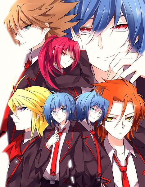 Tags: Anime, Guutara, Link Joker Hen, Cardfight!! Vanguard, Suzugamori Ren, Kai Toshiki, Ishida Naoki, Sendou Aichi, Souryuu Leon, Yami Aichi, School Uniform (Miyaji Academy), Pixiv, Fanart