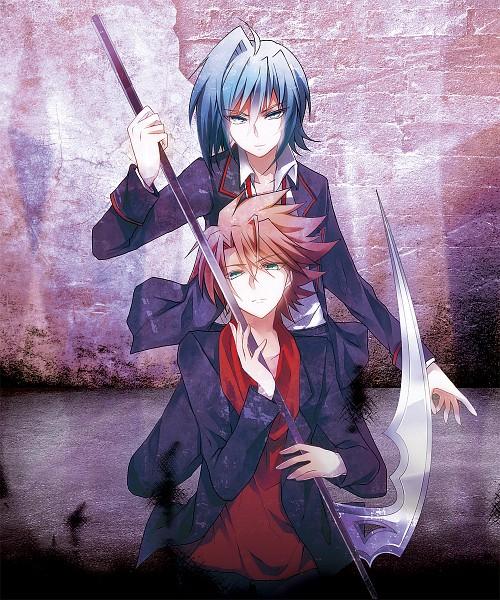 Tags: Anime, Guutara, Link Joker Hen, Cardfight!! Vanguard, Kai Toshiki, Sendou Aichi, School Uniform (Miyaji Academy), Fanart, Pixiv