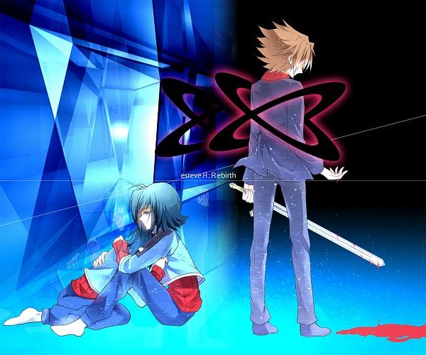 Tags: Anime, Guutara, Link Joker Hen, Cardfight!! Vanguard, Kai Toshiki, Sendou Aichi, School Uniform (Hitsue High), Pixiv, Fanart,