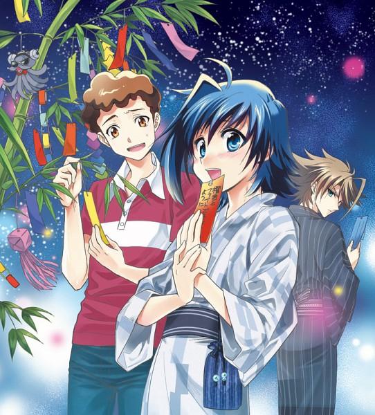 Tags: Anime, Yudzuru, Cardfight!! Vanguard, Izaki Yuuta, Kai Toshiki, Sendou Aichi, Tanabata, Festival, Pixiv, Fanart