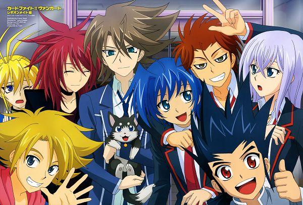 Tags: Anime, Suwa Kanae, Cardfight!! Vanguard, Kai Toshiki, Tenchou Dairi, Sendou Aichi, Suzugamori Ren, Ishida Naoki, Miwa Taishi, Souryuu Leon, Tokura Misaki, Katsuragi Kamui, Magazine (Source)