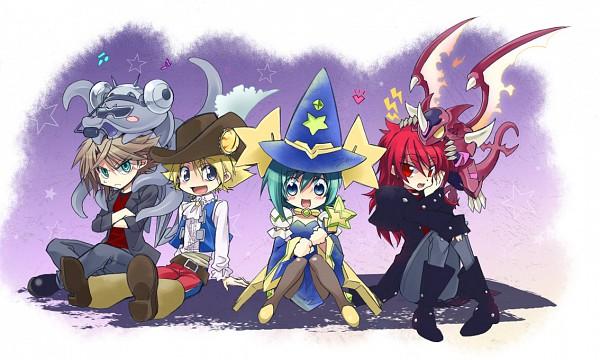 Tags: Anime, Yudzuru, Cardfight!! Vanguard, Miwa Taishi, Kai Toshiki, Sendou Aichi, Suzugamori Ren, Ride (Cardfight!!), Captain Nightmist (Cosplay), Pixiv, Fanart, Cosplay Request